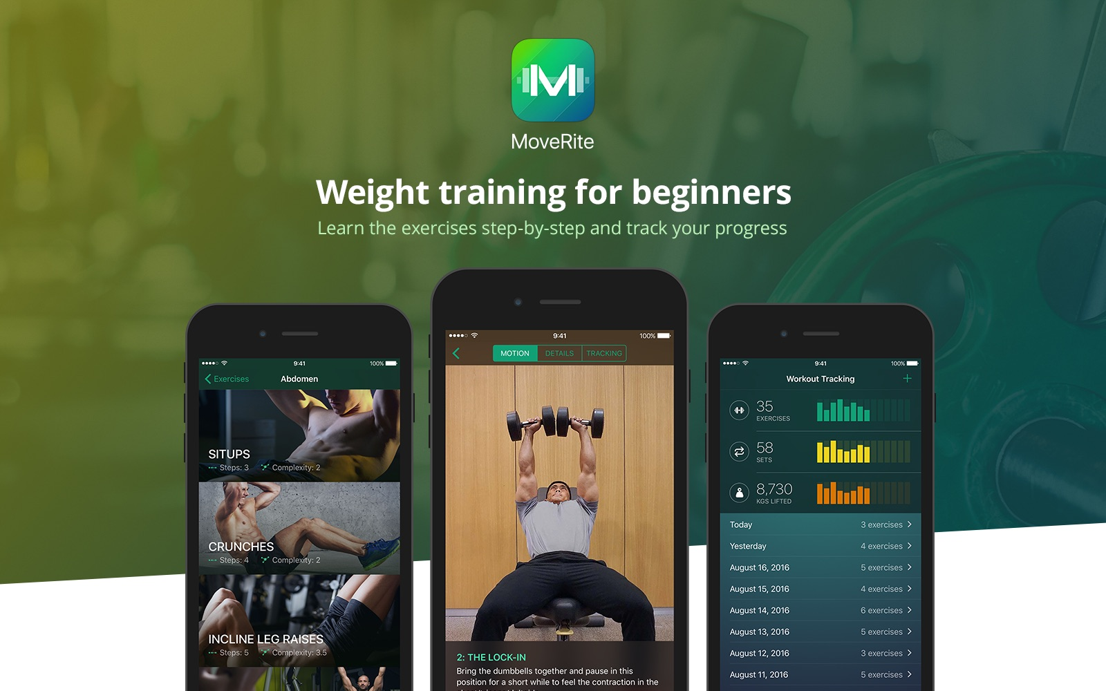 Weight training for beginners by MoveRite